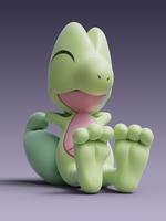 [3D] Treecko's relaxing time