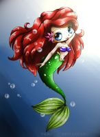 Ariel Chibi By Yampuff- Color by whitneymorris