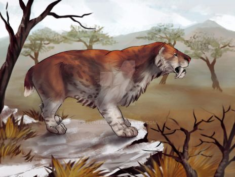 Smilodon populator by FelineFire