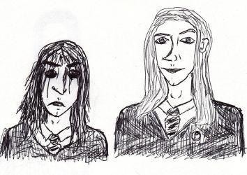 Lucius and Severus, bffs, kind of by harmonicfriction