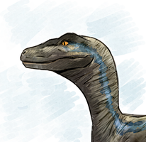 Blue the Velociraptor by Pos23