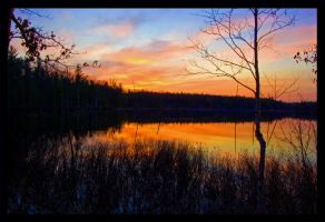 Secluded Lake Sunset by Bigben94