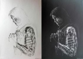 Bucky Barnes (inverted) by KateFrankienaBeck