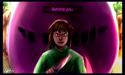 [Glitchtale] Behind you - Collab with LirycaAllson by Lightdrew