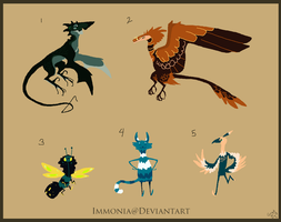 Mixed Creature Adopts 109 [Point Option Available] by Adopt-Monstar