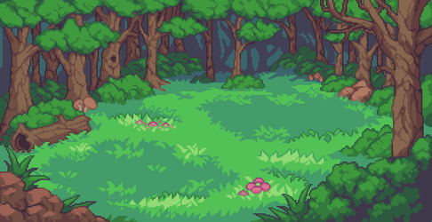 Forest Battle Background by aamatniekss
