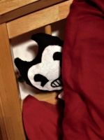 Bendy plushie is hiding by nightblue1991