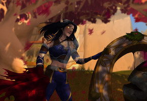 Silvermoon ruins by Eithniel