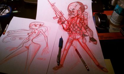 Night time sketching by MOOKSVILLE