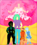 We are the Crystal gems V.2 by FaridCreator