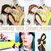 DancingWithColours Action by PartyWithTheStars