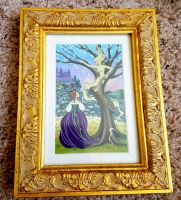 Cinderella and her mother's tree original painting by snuapril01