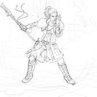 Mage's Pride Lineart -WiPish by HNMartin