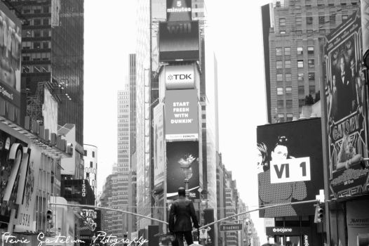 B and W New York City, Times Square by steviegastelum