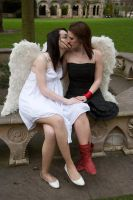 Lesbian Angels stock 50 by Random-Acts-Stock