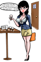 Monica At The Office by KarlaAldana