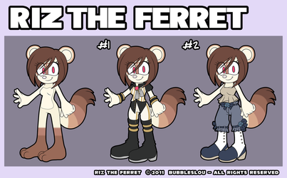 :: REFERENCE :: RIZ THE FERRET by Bubbleslou