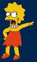 Angry Lisa Simpson by dragonlorest