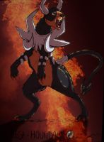 Mega Houndoom by horseydino