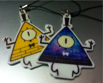 bill cipher necklace and keychain by Zamiiz