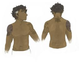 Carlos Tattoo Study by sung-me