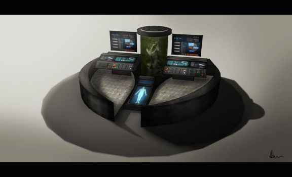 Rendered 3D Sci-fi Console by ANNAS0R