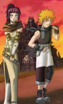 NaruHina in Soul Eater version by 13990