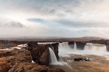 Cloudy Godafoss by somadjinn