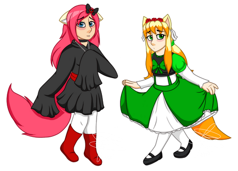 Syirah and Lesiana (Commission) by Infinity-Drawings