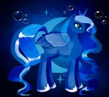 MLP Luna (dark version) by Schwarz-one