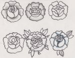 Traditional Flower Tattoo Designs/Sketches by D-ragonstone