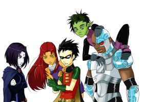 Teen titans by Detkef