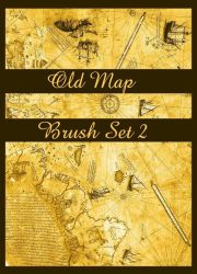 Old Map Brush Set II by chalchiuhtlicue