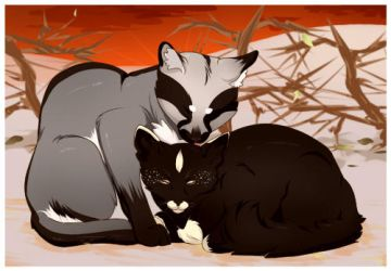 Badger and Elm by eto-nyan