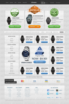 Selling: Outlet Store Web Design by Henerz-Design
