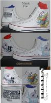Hand Painted Music Love Chucks by Paradox-Artistry