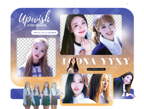 LOONA PNG PACK#1/YYXY by Upwishcolorssx