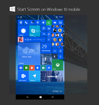 Alternative Start Screen on Windows 10 Mobile by bannax1994