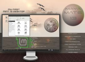 Maya - my first mint 13 with Mate desktop by rvc-2011