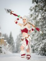 Snow Bunny Nidalee Cosplay by WhiteSpringPro