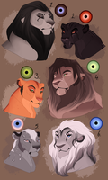 Lion designs. CLOSED: by BeeStarART