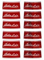sheet of nuka cola labels by emptysamurai