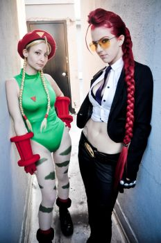 Cammy White and Crimson Viper by itsthekitsunekid