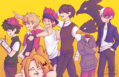 Boku no Hero Academia: Main Boys (Print) by reincarnationz