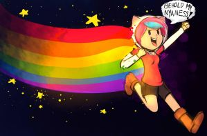 Snookie The Nyan Cat!!! by SnookieVonPink123