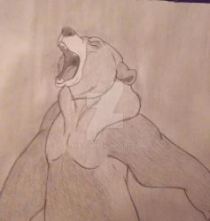 Old Sketch of Kenai from Brother Bear