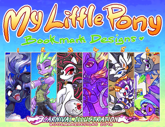 Pony Bookmarks: Aug 2018 Designs by carnival