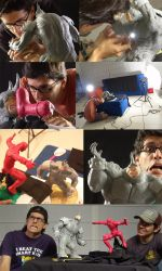 making of the clay comic by Cardoto