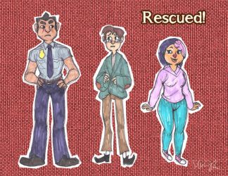 Rescued! Character Designs by MinorDiscrepancy