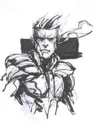 Solid Snake Brush Pen by SkizzleBoots